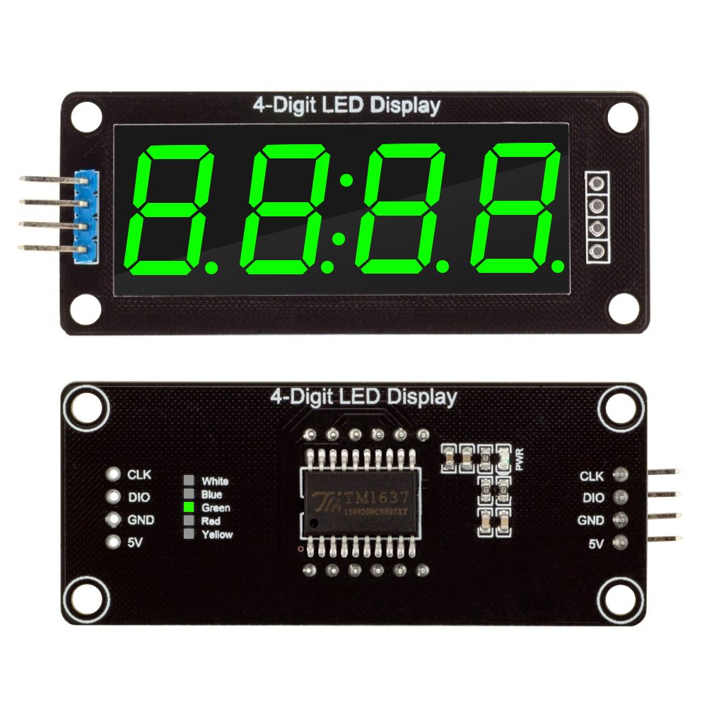 5 Packs Red Green White Yellow Blue Colors Tm1637 056 The 4digit 7segment Led Display Driver Circuit We Will Build Using A 7 Segment 4 Digit Clock Module Digital Tube Serial Board For Arduino