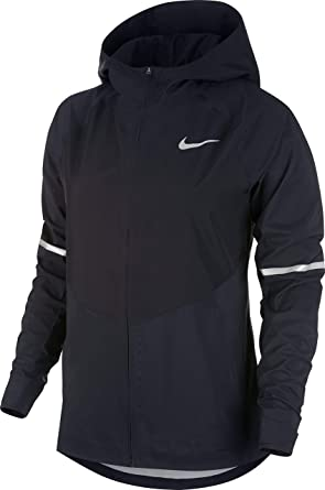 362be3bed5d79 Nike Women's Aroshld Znl Jacket, Black/Metallic Silver, Small
