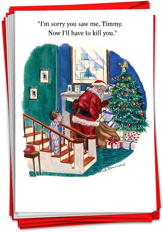 #394 CHRISTMAS CARD Rude Greeting Card funny humour joke Annoying you at Xmas