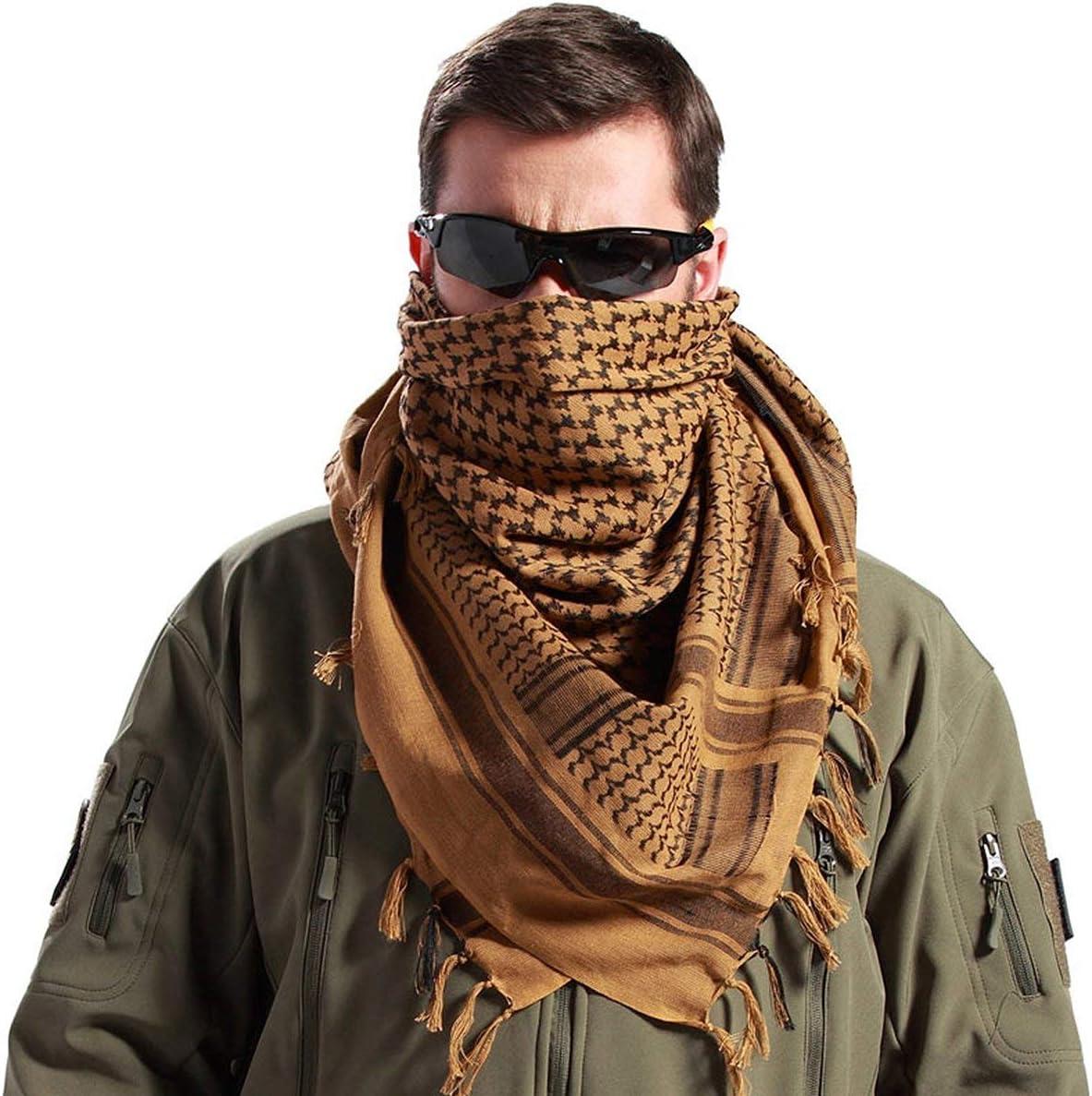 FREE SOLDIER Foulard 100/% Coton /écharpe Militaire Shemagh Tactique d/ésert Keffiyeh avec Tassel 43 x 43 Pouces