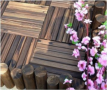Suelo de madera de diy/ carburo,aire libre,pisos de madera/jardín,aire libre,bricolaje parquet suelo-A 30x30cm(12x12inch): Amazon.es: Bricolaje y herramientas
