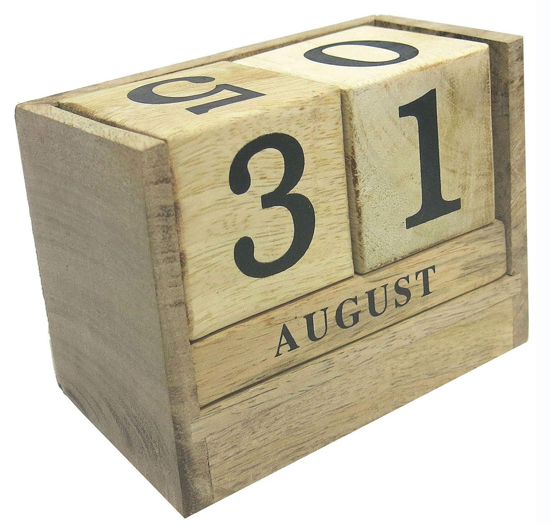 木製テーブルトップカレンダー 年齢   B07GZP3CD6