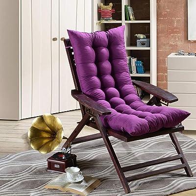 VIVOCFan Rocking Chair Cushions,Thicken Lounge Chair Bench Cushion,Sofa Cushion,matt Mat Window Cushion(no Chairs) Purple 48x160cm(19x63inch): Home & Kitchen