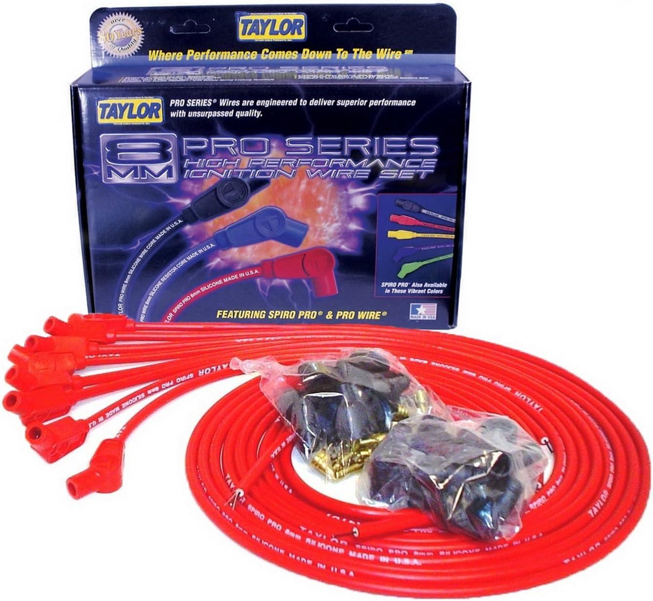 Taylor 73253 Spiro-Pro Spark Plug Wires 8mm