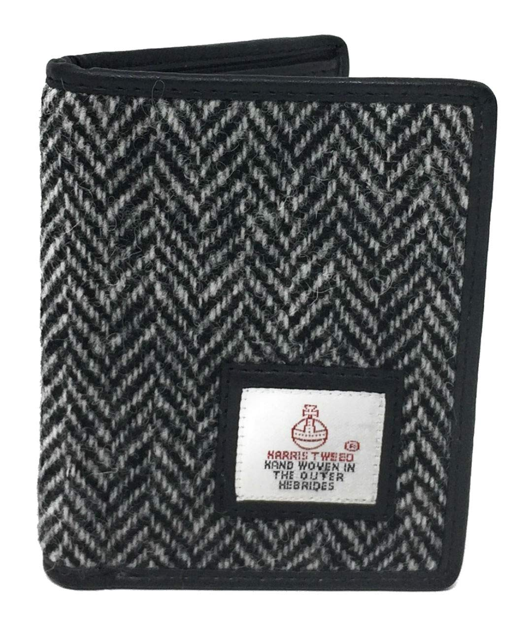 533a9db112a1 Harris Tweed Slim Bifold Card Holder Wallet Boxed (Black Herringbone)   Amazon.co.uk  Luggage