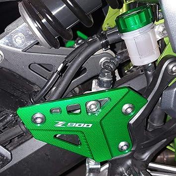 Motorrad Cnc Aluminium Fußrastenschutz Fersenschutz Für Kawasaki Z900 Z 900 2017 2018 2019 2020 Grün Auto