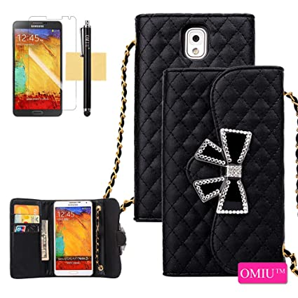 Amazon Com Galaxy Note 3 Case Omiu Tm Noble Grid Bling Crystal