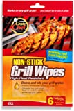 Grate Chef Non-Stick Disposable Grill Wipes, 6 Count