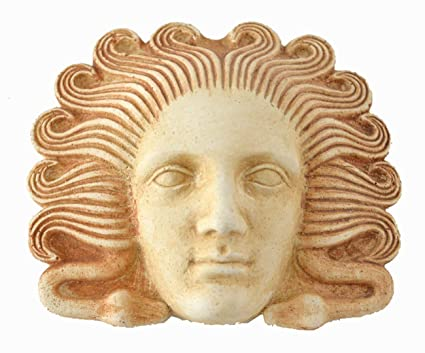 Medusa miniatura máscara – Teatro griego de la Antigüedad – arpía Medousa