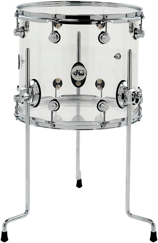 Design Acryl FloorTom 14'x12', transp. Drum Workshop DDAC1214TTCL