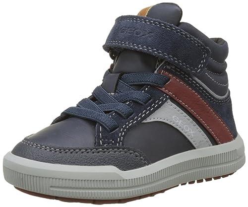 Geox J Xunday D Sneaker a Collo Alto Bambino Blu Navy/Grey 29 EU