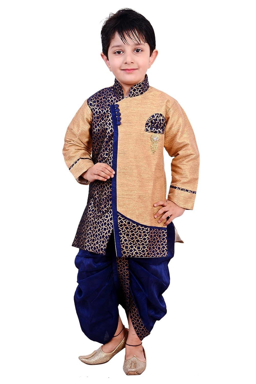 arshia fashions boy s ethnic wear dhoti kurta set amazon in