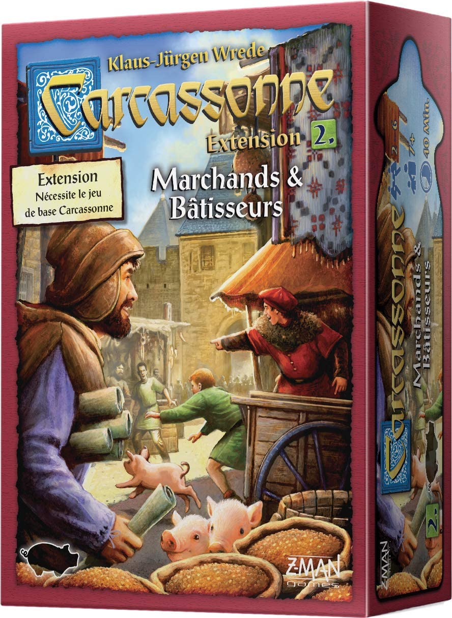 Asmodee Carcassonne-externsion 2: Marchands & bâtisseurs, carc04 N, Juego de Estrategia: Amazon.es: Juguetes y juegos