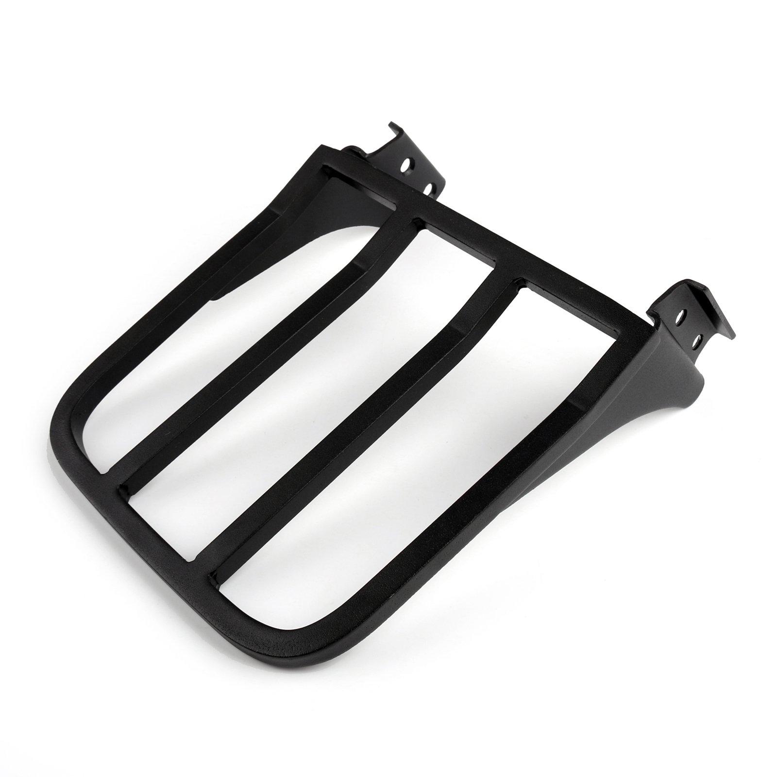Areyourshop Sissy Bar Backrest Luggage Rack For Harley FLSTF FLST FLSTC FLSTSC Black