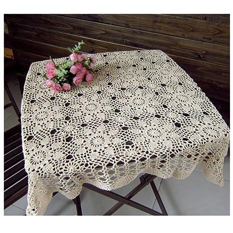 Tovaglia A Mano Uncinetto Pizzo Crochet Divano Asciugamano Tovaglia