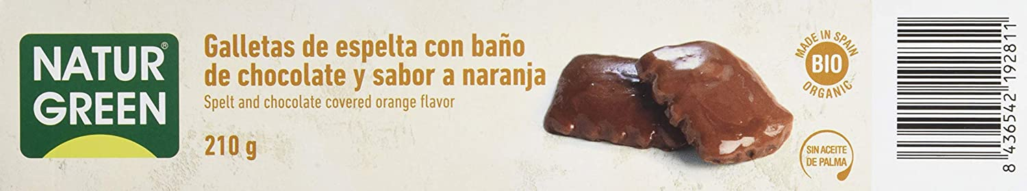 ECOGALLETA CHOCO NARANJA ESPELTA BAñO DE CHOCOLATE: Amazon ...