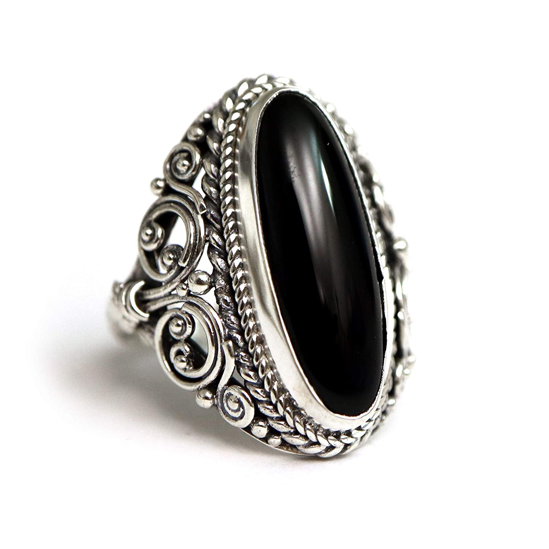 Black Onyx Ring Size 6