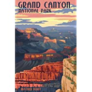 Grand Canyon National Park, Arizona - Mather Point (9x12 Art Print, Wall Decor Travel Poster)