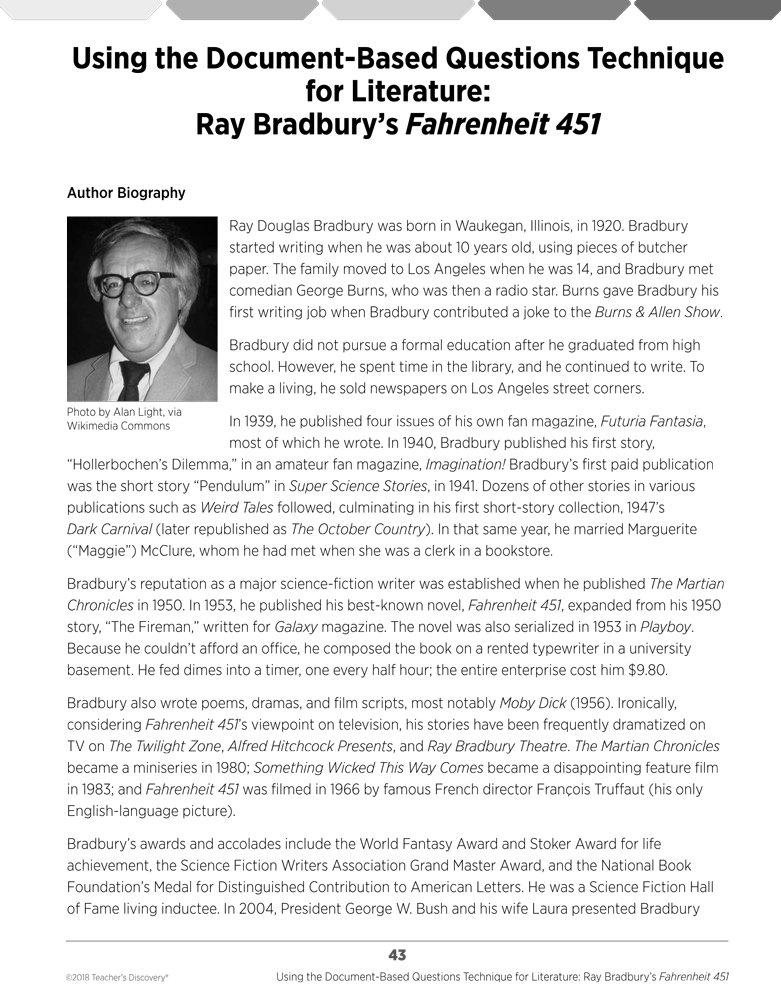 ray bradbury bio