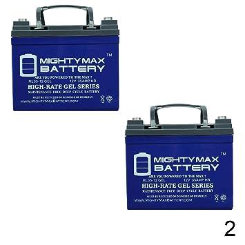 Amazon.com: 12 V 35 Ah batería de Gel para Generac od4575 ...