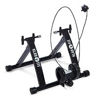 """Klarfit Tourek - Rouleau d'entrainement à résistance magnétique pour vélo en intérieur (résistance réglable sur 7 Niveaux, Fixation Roue Facile, pour Roues 26 et 28"""")"""
