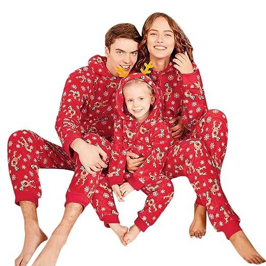 family christmas pajamas xmas pajamas jumpsuit outfit reindeer matching family pjs womens mens kids homewear sleepwear