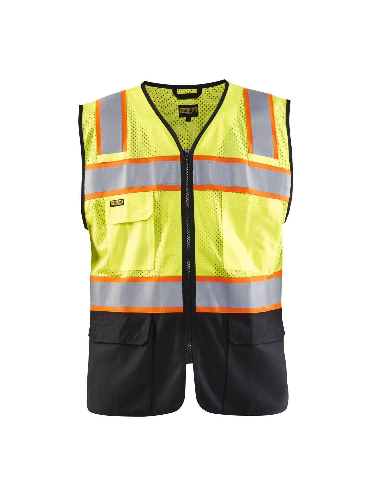 Blaklader Yellow/Black Size Small Hivis Vest for Carpentry Construction