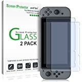 Nintendo Switch Screen Protector, amFilm Premium Tempered Glass Screen Protector for Nintendo Switch (2 Pack)