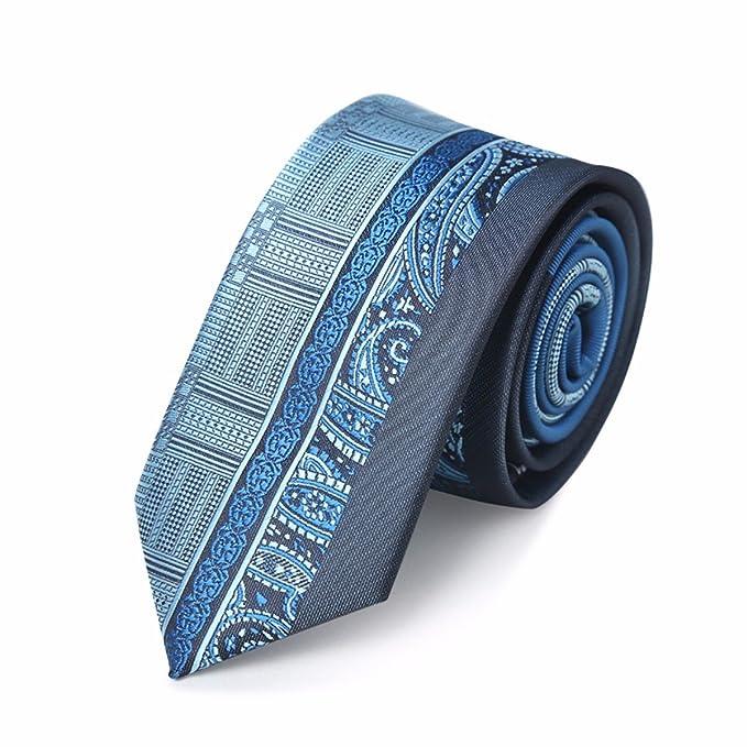 HXCMAN 6cm azul verde paisley Turquesa corbata estrecha arte ...