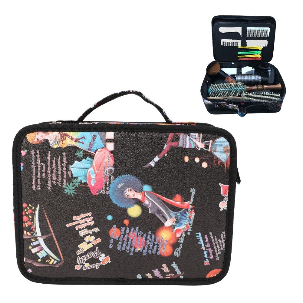 Hairdresser Bag, Hair Accessories Organiser Professional Hairdressing Hair Equipment Tools Bag Salon Scissors Combs Brushes Kit Portable Storage Handbag Semme