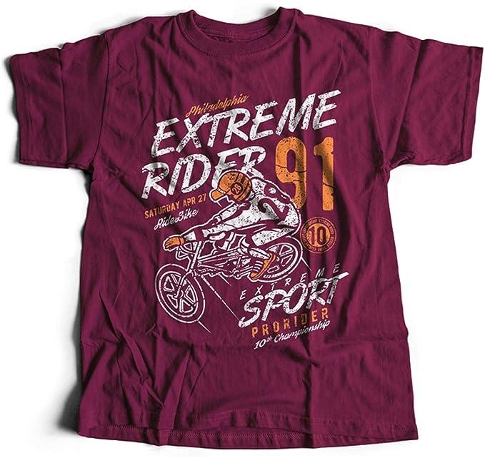 A002-049m Extreme Rider Hombres T-Shirt Bike Sport Club Retro Vintage Ride Prorider
