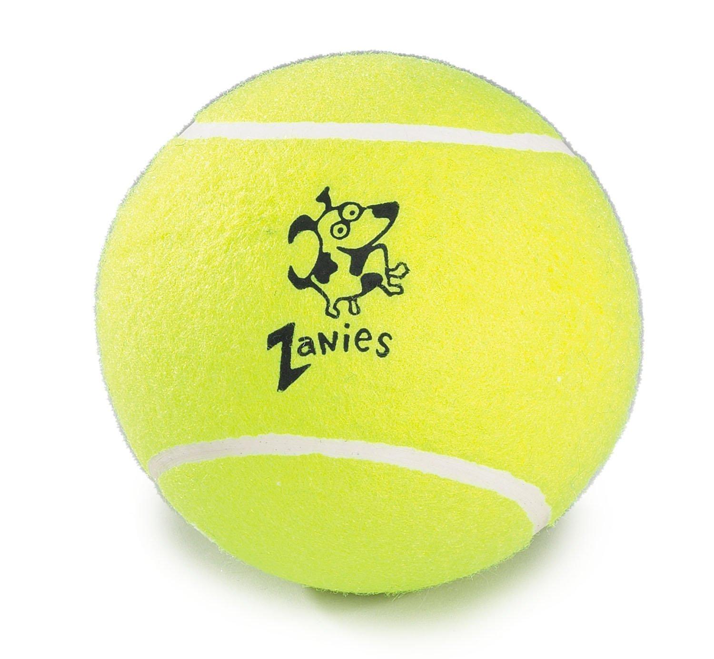 pet supplies pet toy balls zanies tennis ball for dogs  pet supplies pet toy balls zanies 5 tennis ball for dogs 2 packs com