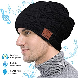 Fairwin Bluetooth Beanie Hat, Smart Wireless Music Beanie for Men and Women, Cashmere Warm Ski Music Hat Knit Gift Cap...