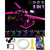Car LED Interior Strip Light, Multicolor RGB Car Interior Lights, 16 Million Colors 5 in 1 with 236 inches Fiber Optic…