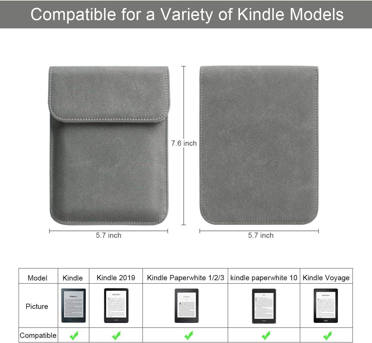 Kindle Voyage Kindle 4//5 Kindle Touch Kindle Paperwhite Walnew 15,2/cm Kindle Housse de Protection Ultra l/éger et Fin /étui de Protection Sac de Transport pour Kindle
