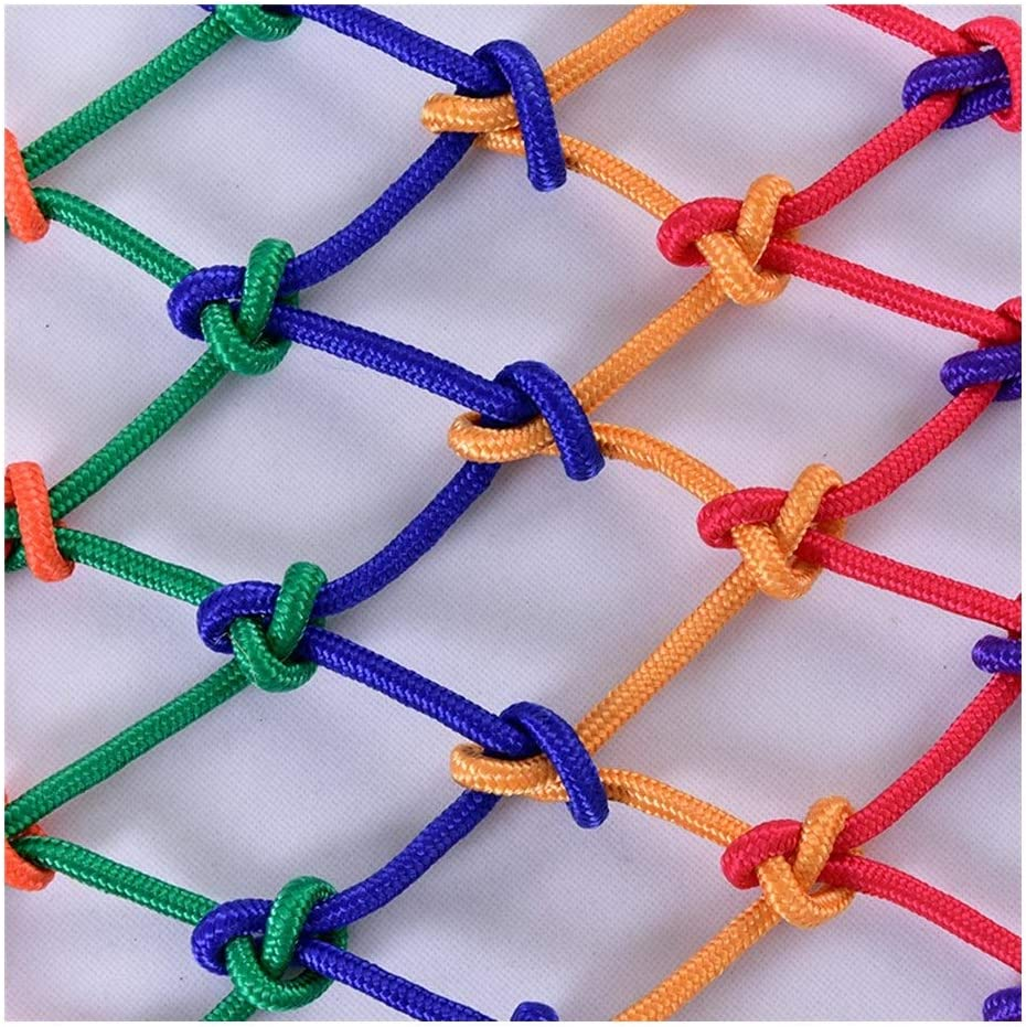子供の落下防止ネット、壁の装飾ロープネット家庭用ナイロン安全保護ネット保育園ゲーム保護ネット、階段の子供のバルコニーの天井に適しています(8mm / 10cm) (Size : 3*3m)  3*3m