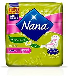 Nana ultra Natural Care toalla sanitaria con plumas 14 piezas – Juego de 2