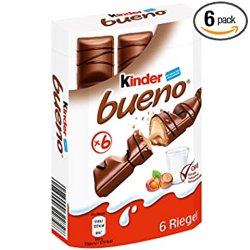 Amazon.com : Kinder Bueno Milk Chocolate, 43g (Pack of 6) : Grocery ...