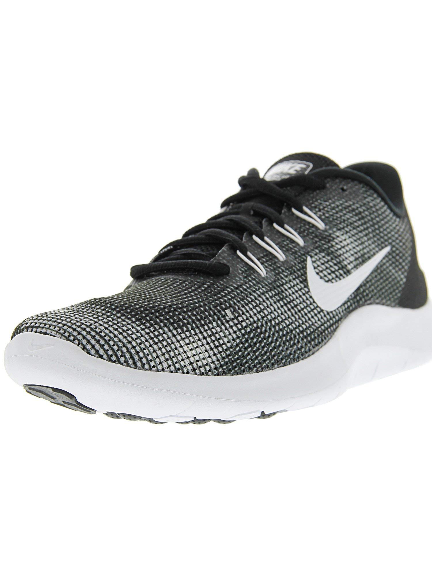 buy popular a0bb7 e0edc NIKE Men's Flex RN 2018 Running Shoes, Black/White, 10