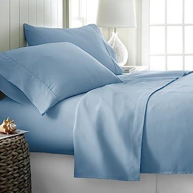 Thread Spread Hotel Collection 600 Thread Count Egyptian Cotton Sateen Full 4 Piece Sheet Set Light Blue