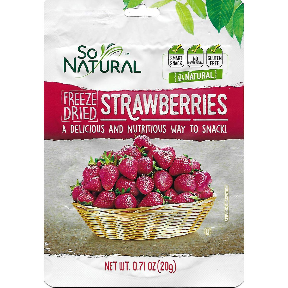 So Natural Freeze Dried Strawberries (Strawberry, 3 Pack)