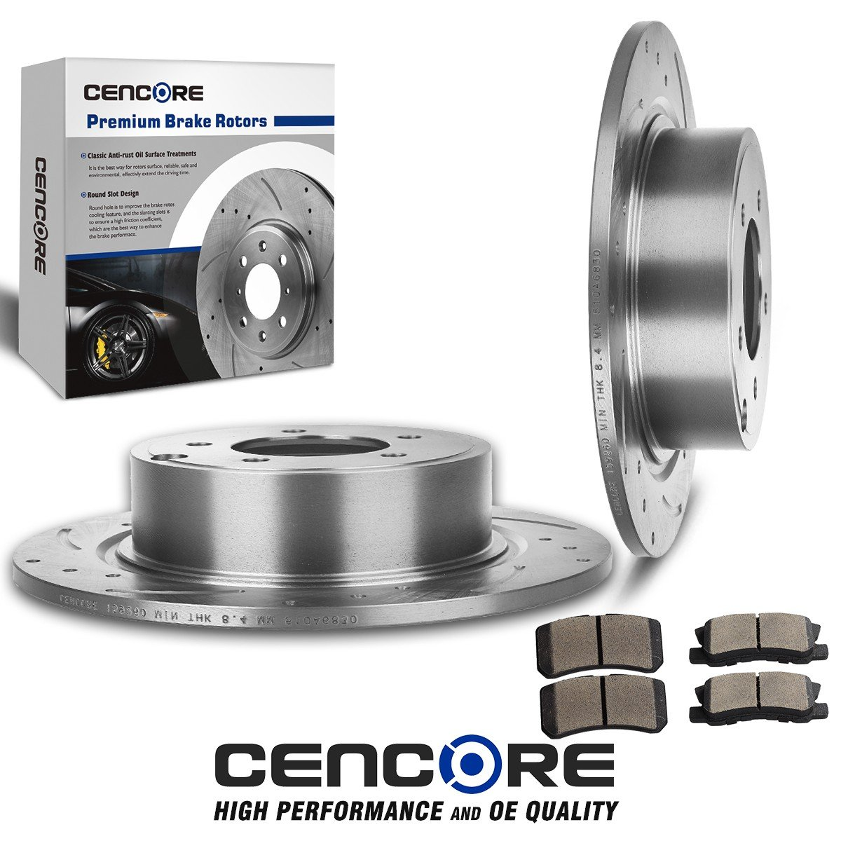 Front And Rear Brake Rotors /& Ceramic Pads For Sebring Jeep Compass Patriot 200