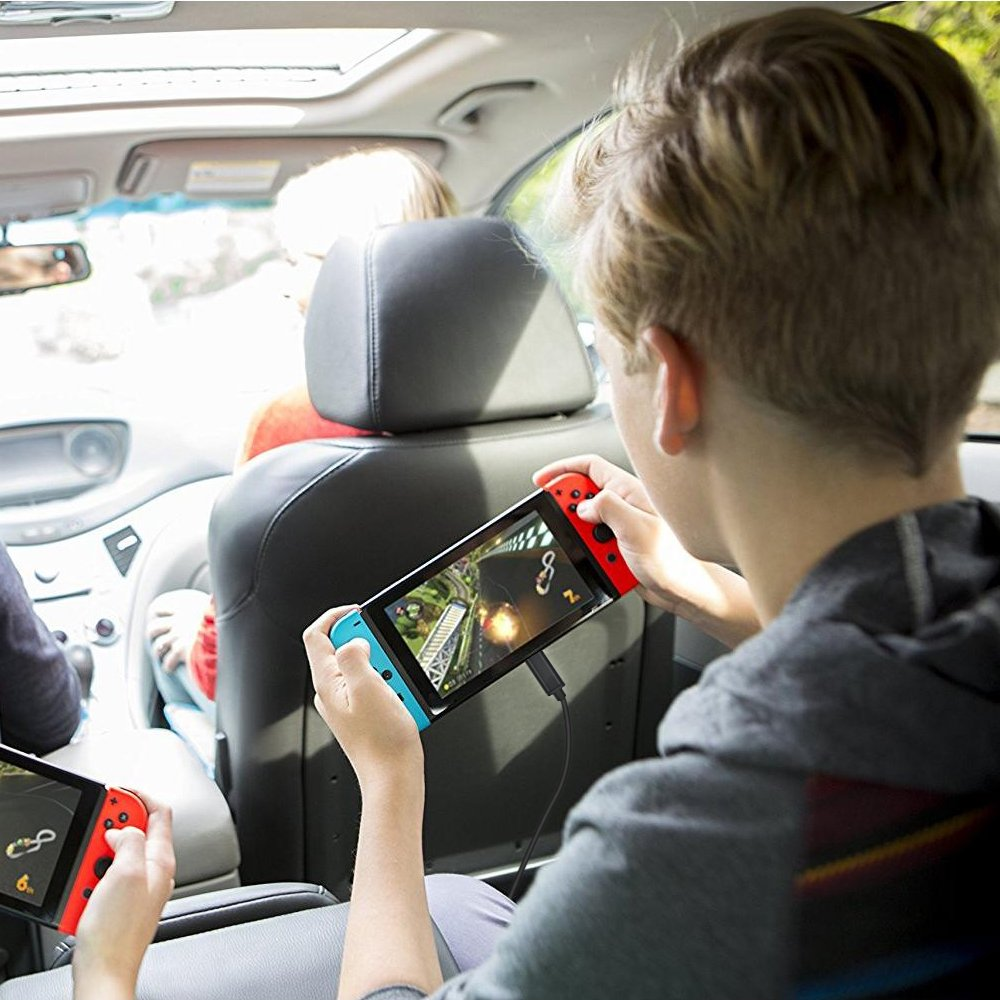 Auto Ladegerät, Ladegerät für Nintendo Switch Lammcou Typ-C Auto Ladegerät Switch Adapter Universal Ladegerät für Switch Smartphone iPad Kindle iPhone Samsung Xiaomi Huawei USB-C-Ladegerät für Kfz