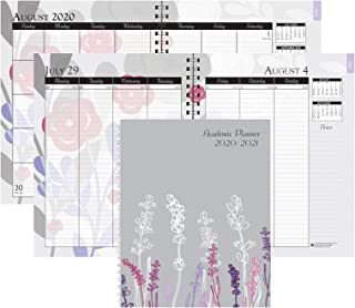 product image for House of Doolittle 2020-2021 Monthly and Weekly Calendar Planner, Academic, Wild Flower, 7 x 9 Inches, August - July (HOD295474-21)