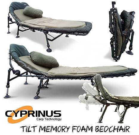 f209e2bc505 Cyprinus™ Tilt Memory Foam Carp Fishing Camping Bedchair with Pillow