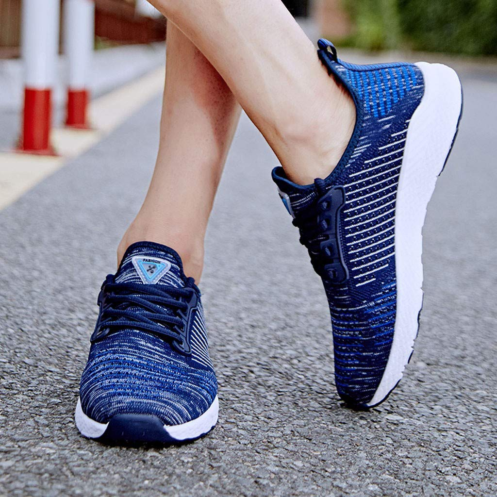 ♚Deadness Fashion Sneakers for Couple Casual Mesh Student Light and Breathable Running Shoes Size5.5-7.5