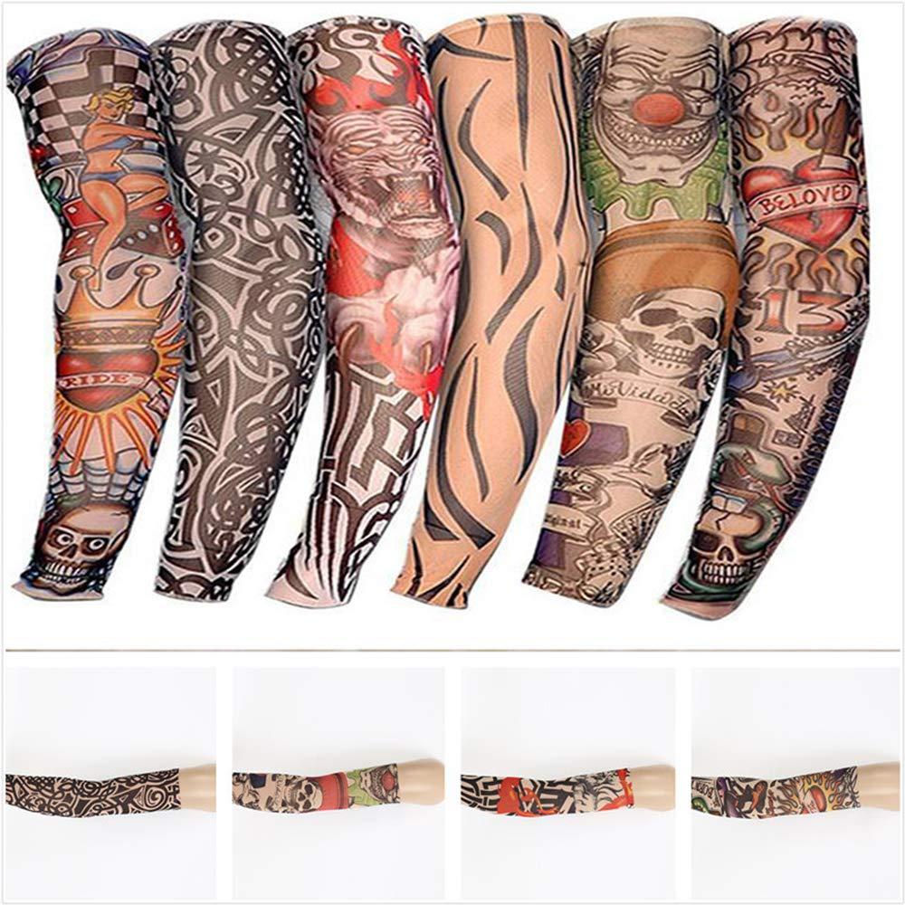 KEISL Mangas tatuadas,brazos florales,tatuajes,mangas de protecci/ón solar,FalsoTatuajeTemporal Mangas Cuerpo Protector Solar de Arte Medias Accesorios 6 piezas