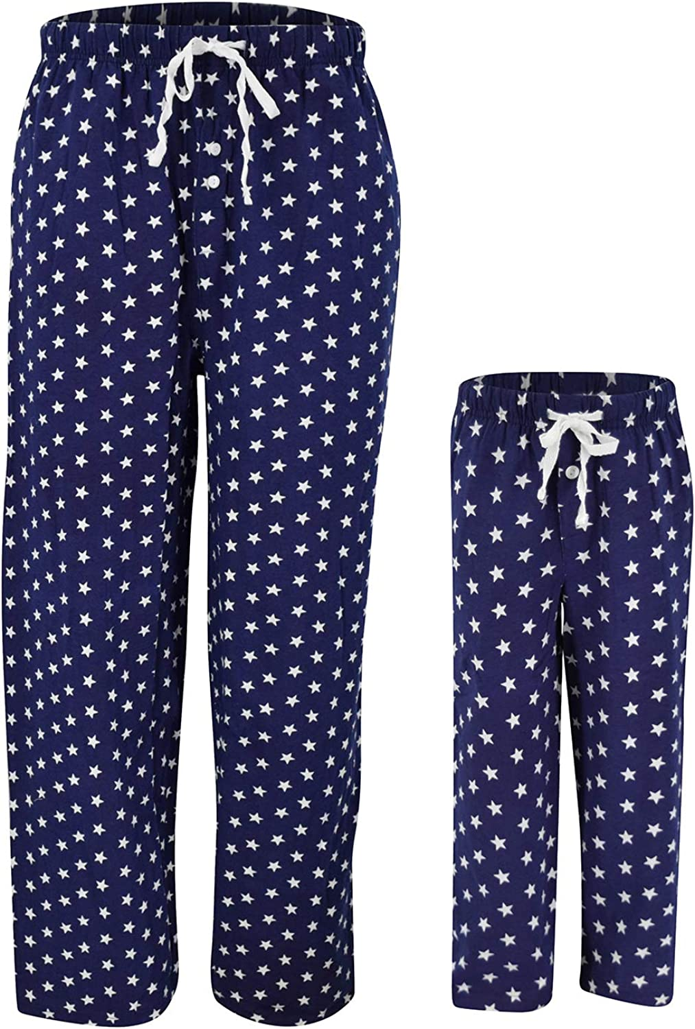 Blue and White Star Matching Family 4th of July Patriotic Pajama Pants