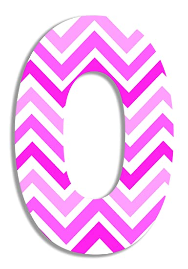 Proudly Made in USA The Kids Room by Stupell OHI-101 E 12 x 0.5 x 18 Stupell Home D/écor Tri-Pink Chevron 18 Inch Hanging Wooden Initial
