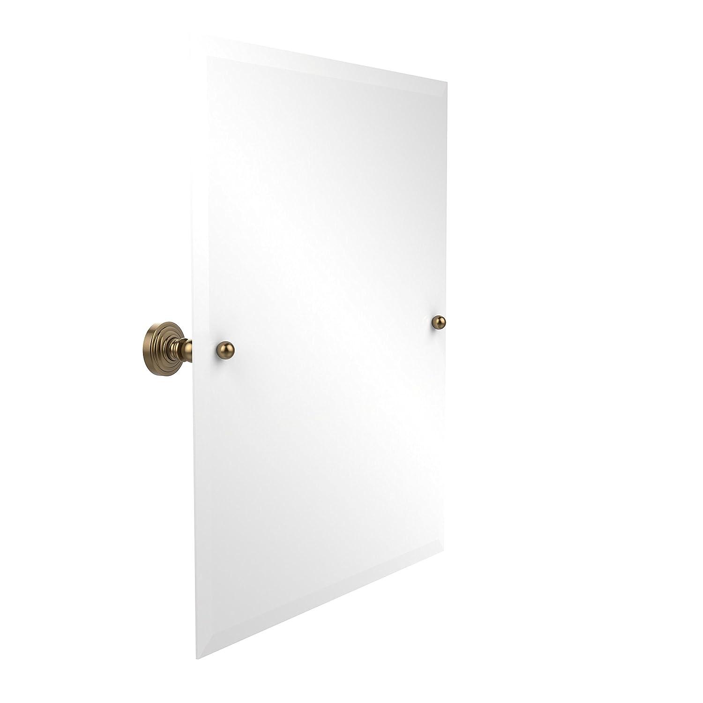 Allied Brass WP-92-BBR Frameless Rectangular Tilt Mirror with Beveled Edge Brushed Bronze